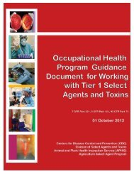 Occupational Health Program Guidance Document for Working with ...