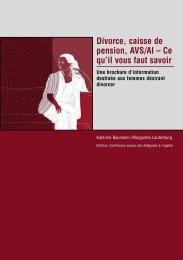 Divorce, caisse de pension, AVS/AI - République et Canton du Jura