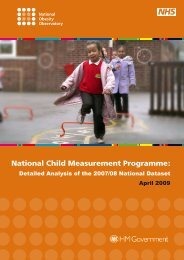 National Child Measurement Programme: Detailed Analysis of the