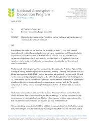 April 4, 2011 To - National Atmospheric Deposition Program