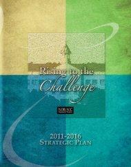 2011-2016 Strategic Priorities - Wor-Wic Community College