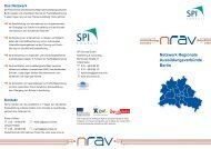 Info-Flyer zum Projekt NRAV Berlin - Netzwerk Regionale ...