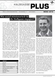 HALBGASSE PLUS Wie sozial-missionarisch ist die ... - FCG Wien