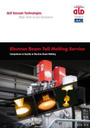 Electron Beam Toll Melting Service - ALD Vacuum Technologies