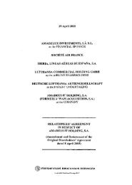 Shareholders' Agreement - Investor relations at Amadeus