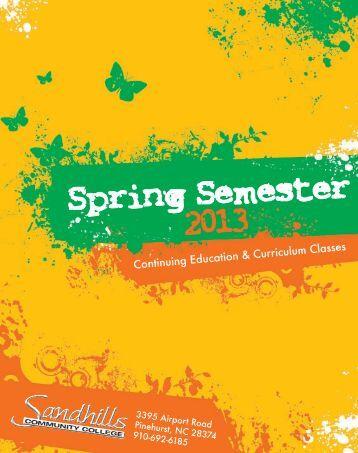 Spring Semester 2013 - Sandhills Community College