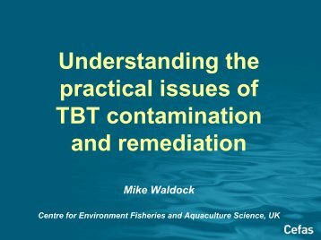 Understanding the practical issues of TBT contamination and ...