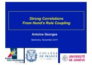 Antoine Georges Strong Correlations From Hund's Rule Coupling