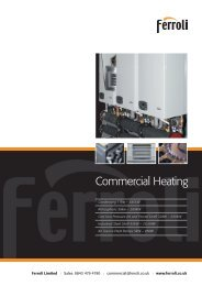 Commercial Heating - Ferroli