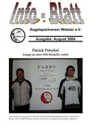 August 2004 Patrick Petschel - KSV Wetzlar