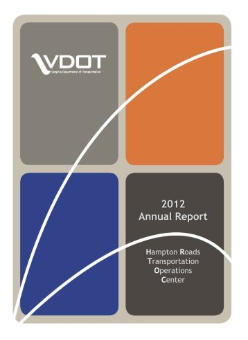2012 Annual Report - Virginia Department of Transportation