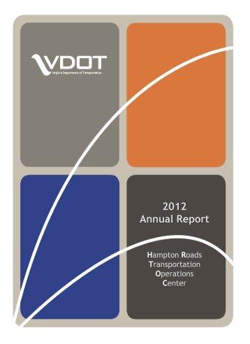 2012 Annual Report - Virginia Department of Transportation