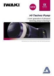 IWAKI Hi-Techno Pump IX series