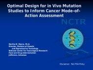 Optimal Design for in Vivo Mutation Studies to Inform Cancer Mode-of