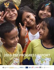 2010 PSF PROGRESS REPORT - psflibrary.org