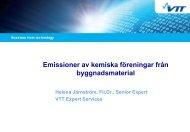 Emissioner av kemiska föreningar från byggnadsmaterial