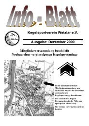 Dezember 2000 - KSV Wetzlar