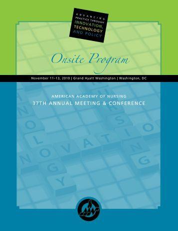 Onsite Program - American Academy of Nursing