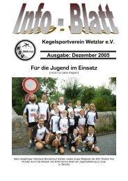 Dezember 2005 Für die Jugend im Einsatz - KSV Wetzlar