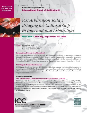 ICC Arbitration Today - U.S. Council for International Business