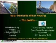 Solar Domestic Water Heating - Howell-Mayhew Engineering
