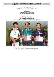 Jugend - Hessenmeisterschaft 2004 - KSV Wetzlar