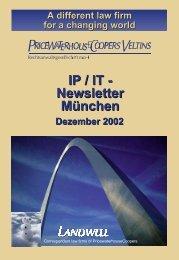 IP / IT - Newsletter München - Heussen Rechtsanwaltsgesellschaft