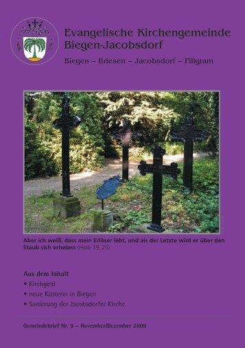 Evangelische Kirchengemeinde Biegen-Jacobsdorf Evangelische ...