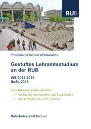 Gestuftes Lehramt an der RUB - Professional School of Education ...