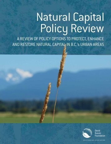 Natural Capital Policy Review - David Suzuki Foundation