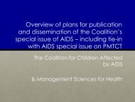 including tie - The Coalition for Children Affected by AIDS
