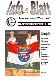 Kegelsportverein Wetzlar eV Ausgabe: Dezember 2008 - KSV Wetzlar