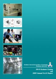 Graduate Catalog - Sirindhorn International Institute of Technology