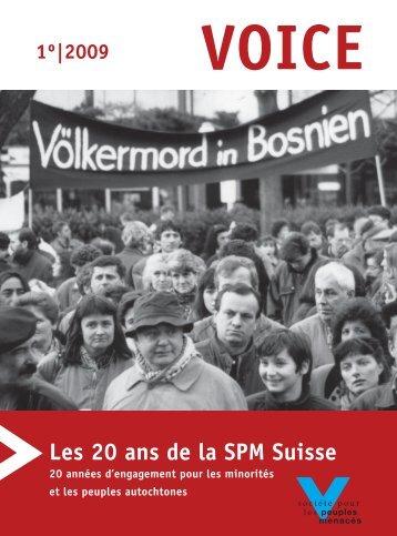 Download VOICE 1/2009 - Les 20 ans de la SPM Suisse