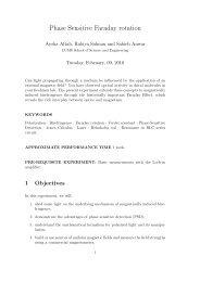 Phase Sensitive Faraday rotation - Experimental Physics