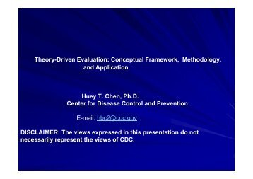 Theory-Driven Evaluation: Conceptual Framework ... - proVal