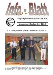 September 2003 - KSV Wetzlar