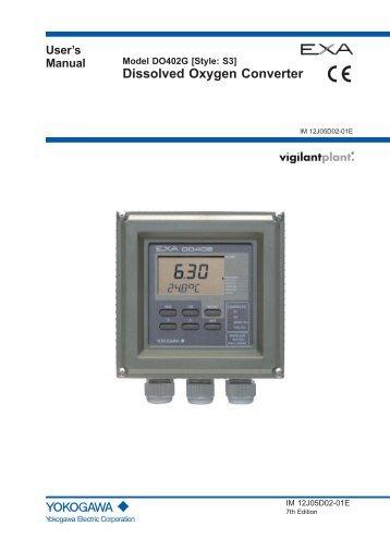 user s manual for do402g yokogawa rh yumpu com Instruction Manual Example Instruction Manual