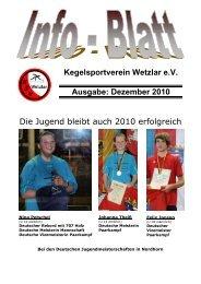 Kegelsportverein Wetzlar e.V. Ausgabe: Dezember ... - KSV Wetzlar
