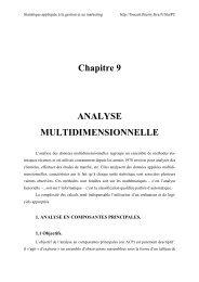 Chapitre 9 ANALYSE MULTIDIMENSIONNELLE - Méthodes de ...
