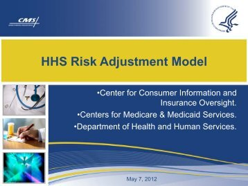 HHS Risk Adjustment Model - Centers for Medicare & Medicaid ...