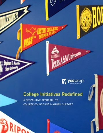 College Initiatives Redefined