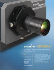 CP2000-X Brochure - Christie Digital Systems