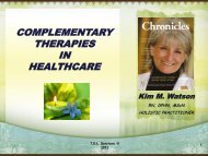 COMPLEMENTARY THERAPIES IN HEALTHCARE - Hamilton ...