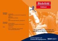 Schulische Beratung für Kinder und Jugendliche mit ... - RAA Bielefeld