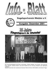 Dezember 2001 - KSV Wetzlar
