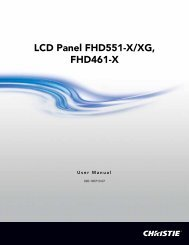 LCD Panel FHD551-X/XG User Manual - Christie Digital Systems