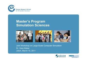 Master's Program Simulation Sciences - German Research School ...