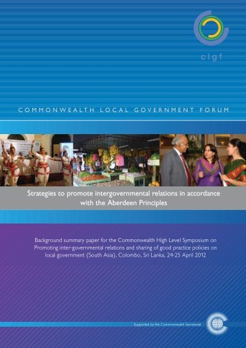 Strategies to promote intergovernmental relations - Commonwealth ...