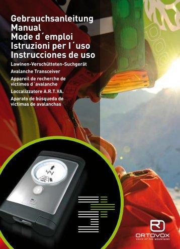 Gebrauchsanleitung Manual Mode d´emploi ... - Avalanche Center